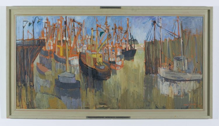 Molly Bobak – Fishboats at the Mouth of the Fraser, 1956