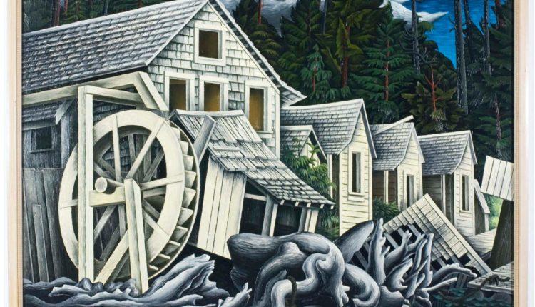 E.J. Hughes – Abandoned Village, River's Inlet, B.C.